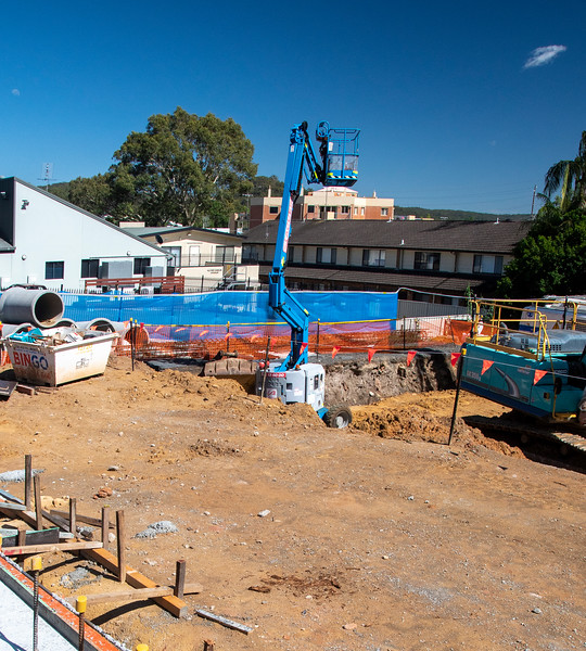 Construction on new Units in Gosford at 56-58 Beane St. December 6, 2020. Part of a Series