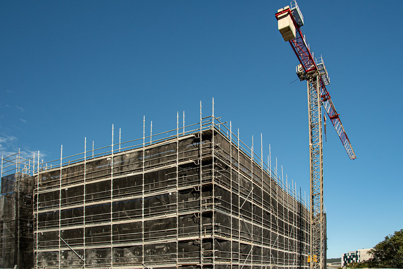 Construction progress on new building site. Gosford, Australia. March 28, 2021. 56-58 Beane St. Part of a series.