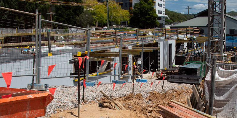 Foundations footing and flooring work building progress, Gosford, Australia. February 7, 2021. Part of a building series.