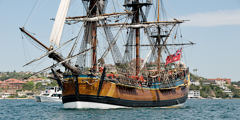 HM Bark Endeavour Replica tall ship
