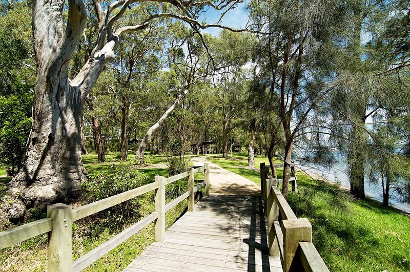 Gum Tree Walk Footbridge.