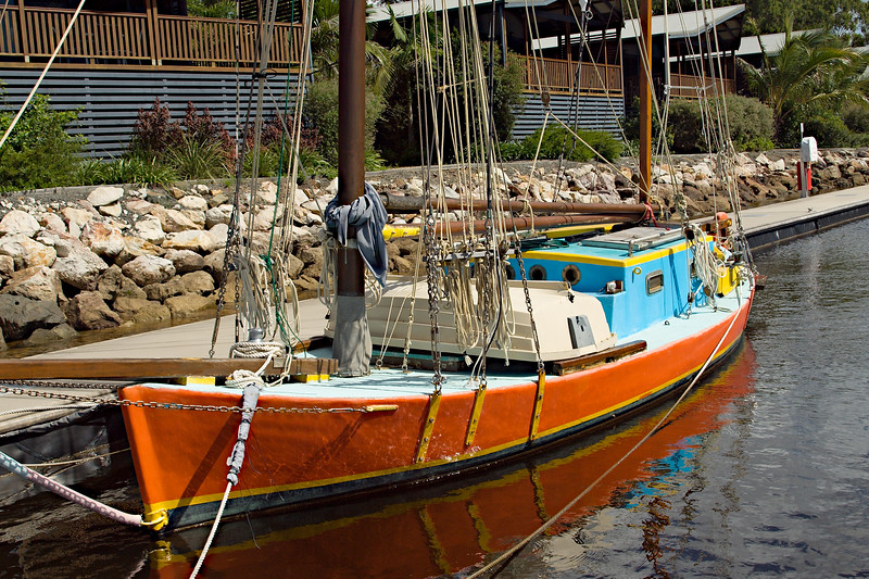 Old style vintage gaff rigged Sailing Boat