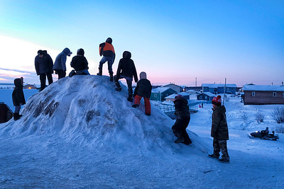 Dene Hand Game tournament in Dehchoko, NWT.