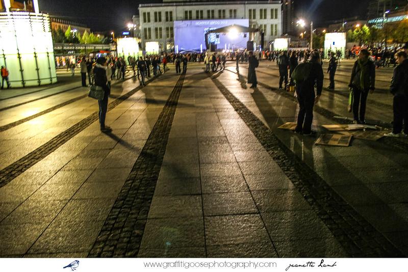 Leipzig Lightfestical Commemorating the 1989 Revolution & German Reunification