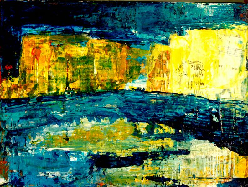 Kanal in Winter 2010  Oil/Mixed Media on canvas