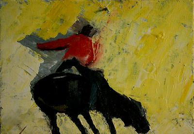 Cowboy on Bull  Oil on Canvas  2009