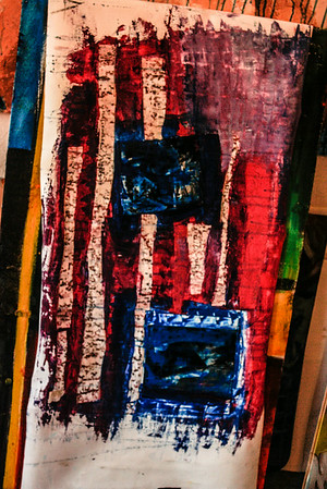 Amerikan Roots 2010  Mixed Media on unstretched canvas