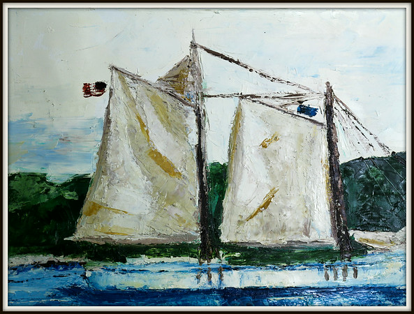 Nicolas & the Tall Ship Crossing Cape Cod Canal