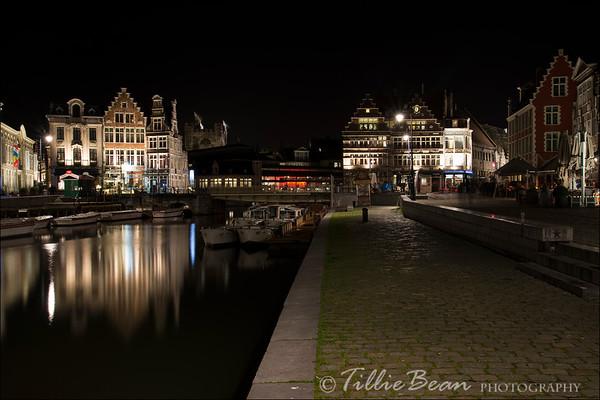 Ghent, Belgium. Graslei