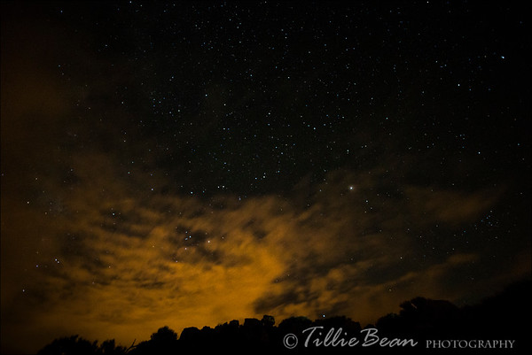 Mount Teide by Night. Star Scape