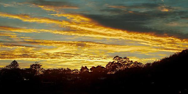 Vibrant Yellow Cloud Sunrise ... in Sunrise gallery
