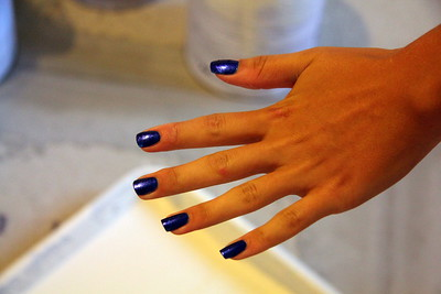 Michelle shows off her latest manicure.