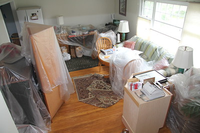 My kitchen table is in the living room -- so is my refrigerator -- no water or ice hook-up. Buying bottled water and bags of ice.