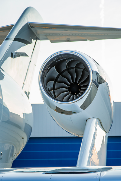 Instead of on the main fuselage the HondaJet's engines are on pylons above each wing. According to HondaJet this increases the Honda's cargo capacity while reducing cabin noise by isolating the engines away from the fuselage.