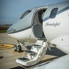 With thoughtful attention to design, the air stair on the HondaJet provides a quality boarding experience.