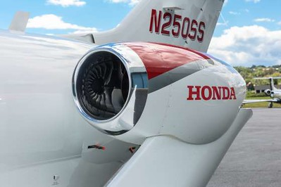 The General Electric/Honda HF120 turbofan engines capable of producing 2,050 pounds of thrust. ..What makes the HondaJet's engines special is where the company decided to mount them.
