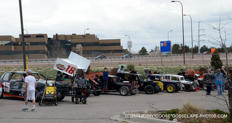RACE CARS AT THE COLORADO SPRINGS , HOOTERS
