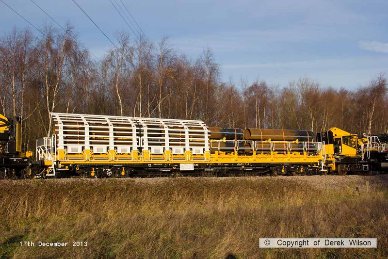 131217-025     HOPS pile carrying wagon 99 70 9131 006-2 (should be 002-6) at Ollerton on the High Marnham Test Track.