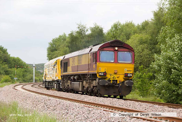 2014, 30th May, HOPS electrification train at Boughton Junction