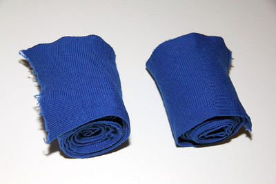Blue support wraps with velcro -- $2.00 for pair