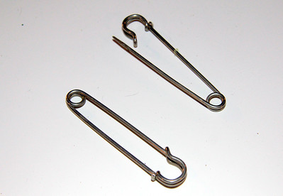 Leg bandage pins (2) -- 50 cents for both