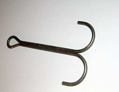 Double hook for hanging tack -- $1.50