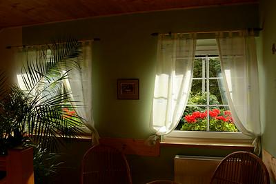 ... a okna mého penzionu