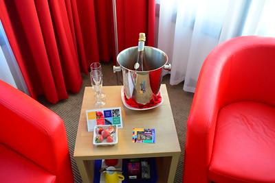 Champagne y fresas de cortesia :0)