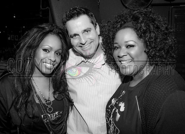 Longtime friend DJ Earic Patten with the Ladies of Deep Sugar