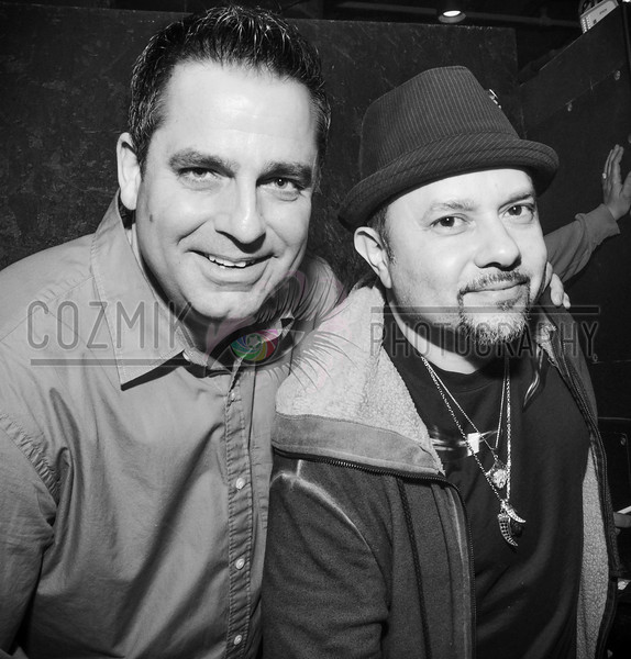 The Reunion: DJ Earic Patten & Louie Vega - they hadn't seen each other since performing together at Club Zei in 1995.