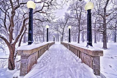 Snowy Bridge, Deering Oaks, Portland, Maine