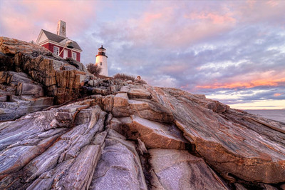 Pemaquid Point Sunset with a Seaview, Bristol, Maine