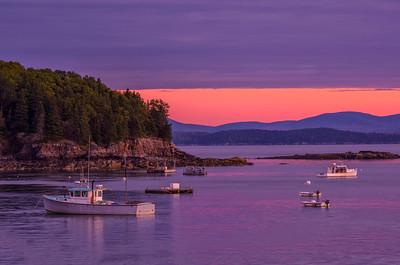 Bar Harbor at Sunrise, Bar Harbor, Maine.