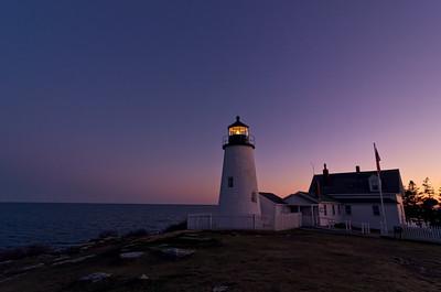 Pemaquid Point Light at Twilight, Bristol, Maine