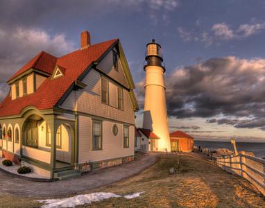 The Lighthouse Keeper's Cottage, Portland Head Light, Cape Elizabeth, Maine