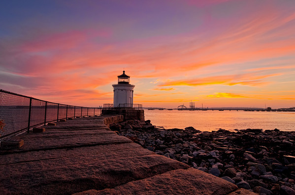 Bug Light Sunrise 1899, South Portland, Maine