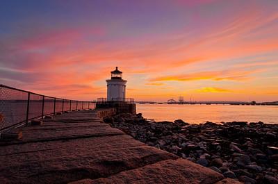 Bug Light Sunrise 1899, South Portland, Maine