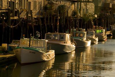 Golden Lobster Boats, Portland Harbor, Maine