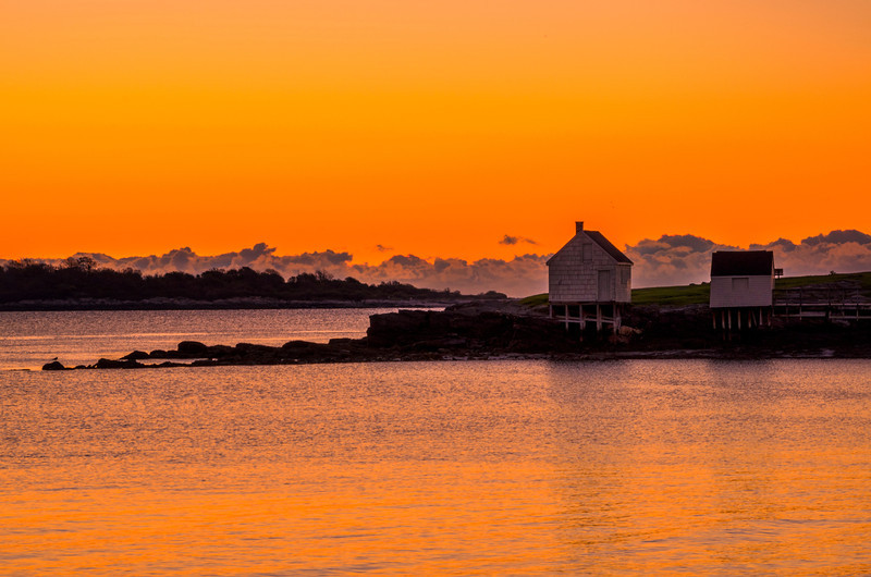 Beach Shacks at Dawn, Willard Beach, South Portland, Maine