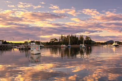Bernard Harbor Sunset, Acadia National Park, Maine