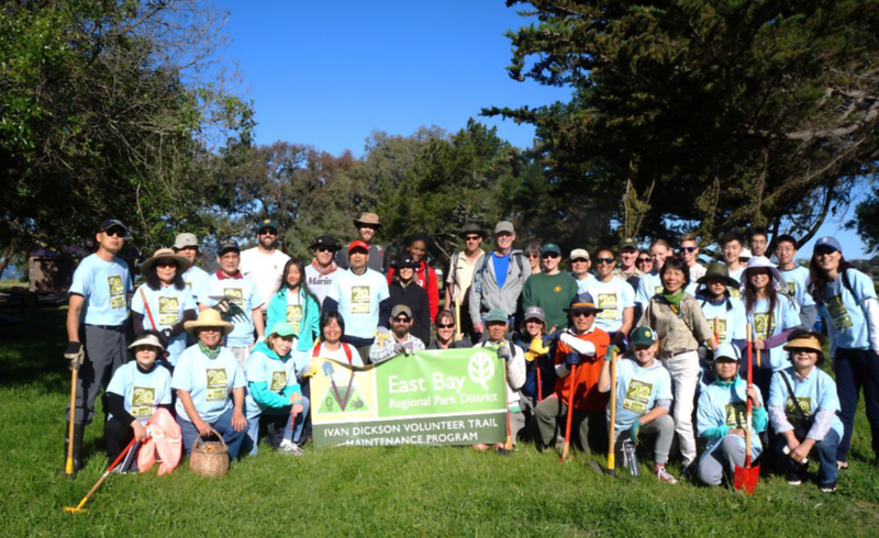 Trail maintenance volunteers at Miller/Knox Regional Shoreline