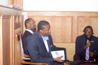 Pastor Oliver Archer, Pastor Bernard Penn, Nathaniel Martin