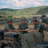 Planning an Air Mobile Operation on LZ Debbie:<br />  Artillery LNO Cpt. Ed Henery,<br />  Bn.CO LTC Hobbs,  <br />  Bn S-3 Major Del Campbell