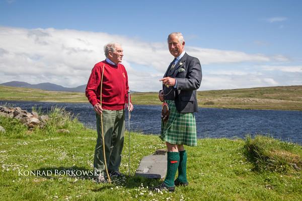 Prince Charles in Finlaggan