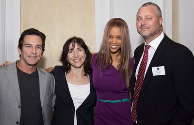 Laura Armstrong (Bankable Productions), Tyra Banks, Sean Perry, Jeff Probst