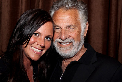 "Stacy Stone (Volt Workforce Solutions) and Jonathan Goldsmith (""The Most Interesting Man in the World"")"