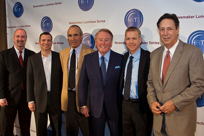 Dave Ferrara, Jordan Levin, Ron Shelton, Vin Scully, Kevin Beggs and Andy Friendly.
