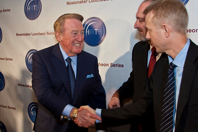 Vin Scully, Dave Ferrara (Executive Director, HRTS) and Kevin Beggs (President of Lionsgate TV and HRTS).