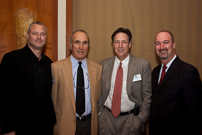 Sean Perry (WME & HRTS Board Member), Ron Shelton (writer/director/producer), Andy Friendly (Andy Friendly Productions & HRTS Board Member), and Dave Ferrara (Executive Director, HRTS)