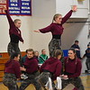 GREG SUKIENNIK -- BENNINGTON BANNER<br /> Mount Anthony Union High School's dance team lifts two of their teammates during the hip-hop competition at a dance meet at MAU on Jan. 19, 2018.